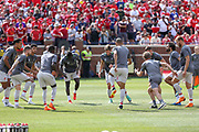Liverpool players in training during the Manchester United and Liverpool International Champions Cup match at the Michigan Stadium, Ann Arbor, United States on 28 July 2018.