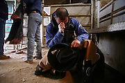 Italy, Voghera, Cowboys ranch: the cowboy prayer before the rodeo  .Cowboys show and contest.
