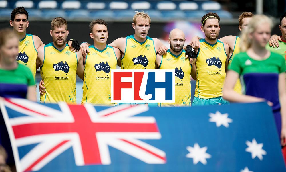 BREDA - Rabobank Hockey Champions Trophy<br /> India - Australia<br /> Photo: Australian line up.<br /> COPYRIGHT WORLDSPORTPICS FRANK UIJLENBROEK