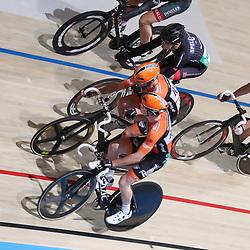 18-12-2016: Wielrennen: NK baanwielrennen: Apeldoorn  <br />APELDOORN (NED) baanwielrennen  <br />Raymond en Michel Kreder in actie tijdens de NK koppelkoers ze pakken de zilveren medaille.