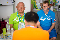 Janez Kocijancic and Borut Kolaric in Youth Olympic Village at 2th Summer Youth Olympic Games in Nanjing, China. Photo by: Peter Kastelic/Sportida