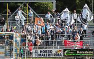 FODBOLD: FC Helsingør fans under kampen i ALKA Superligaen mellem Hobro IK og FC Helsingør den 16. juli 2017 på DS Arena i Hobro. Foto: Claus Birch