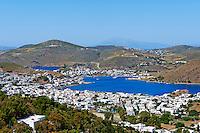 Grece, Dodecanese, Patmos, vue generale sur Skala // Greece, Dodecanese, Patmos island, Skala city