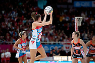 SYDNEY, NSW - JUNE 16: Kate Eddy of the Swifts passes the ball during the round 8 Super Netball match between the Sydney Swifts and the Giants at Qudos Bank Arena on June 16, 2019 in Sydney, Australia.(Photo by Speed Media/Icon Sportswire)
