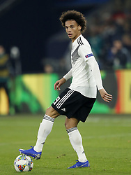 Leroy Sane of Germany during the UEFA Nations League A group 1 qualifying match between Germany and The Netherlands at the Veltins Arena on November 19, 2018 in Gelsenkirchen, Germany