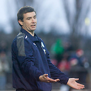 Dundee manager Barry Smith - Ross County v Dundee - Irn Bru Scottish Football League First Division at Victoria Park, Dingwall..- © David Young - .5 Foundry Place - .Monifieth - .DD5 4BB - .Telephone 07765 252616 - .email; davidyoungphoto@gmail.com - .web; www.davidyoungphoto.co.uk