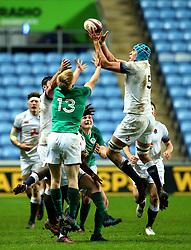 James Scott of England U20 catches the ball - Mandatory by-line: Robbie Stephenson/JMP - 16/03/2018 - RUGBY - Ricoh Arena - Coventry, England - England U20 v Ireland U20 - Six Nations U20