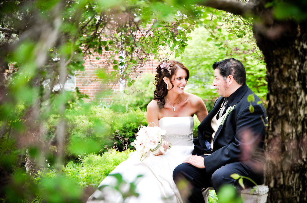 Misty & Frank in the courtyard at Pilgrim Congragational Church, Greenbay, WI