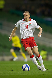 DUBLIN, REPUBLIC OF IRELAND - Wednesday, May 25, 2011: Wales' Steve Morison in action against Scotland during the Carling Nations Cup match at the Aviva Stadium (Lansdowne Road). (Photo by David Rawcliffe/Propaganda)