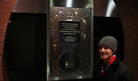 Football - 2016 / 2017 League [EFL] Cup - Quarter-Final: Manchester United vs. West Ham United<br /> <br /> The Eternal Flame in the Munich Tunnel marking The Munich Air Disaster , at Old Trafford.<br /> <br /> COLORSPORT/LYNNE CAMERON