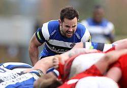 Bath's Micky Young watches the scrum - Photo mandatory by-line: Robbie Stephenson/JMP - Mobile: 07966 386802 - 29/03/2015 - SPORT - Rugby - Oxford - Kassam Stadium - London Welsh v Bath Rugby - Aviva Premiership