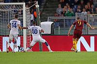 Il gol del 2-0 di Edin Dzeko Roma<br />Goal Celebration Roma<br />Roma 23-10-2018 Stadio Olimpico <br />Football Calcio Uefa Champions League 2018/2019 <br />AS Roma - CSKA Mosca <br />Foto Luca Pagliaricci / Insidefoto