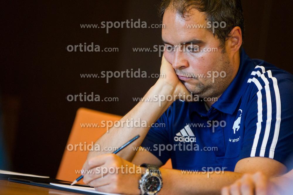 Branko Tamse, head coach of RK Celje Pivovarna Lasko during press conference before 1. NLB League 2015/16, on August 29, 2015 in Kempinski Hotel, Portoroz / Portorose, Slovenia. Photo by Urban Urbanc / Sportida