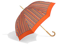orange striped umbrella by pierre vaux umbrella