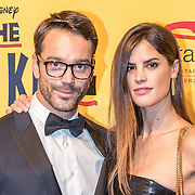 NLD/Scheveningen/20161030 - Premiere musical The Lion King, Miro Kloosterman en partner Laurie Gordeijns