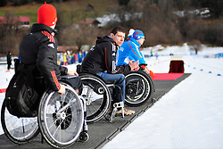 Behind the scenes, Max Hauche at the 2014 IPC Nordic Skiing World Cup Finals - Middle Distance