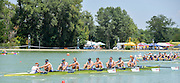 Plovdiv, BULGARIA.  GBR BM8+. Bow, GIBBS, Rory, <br /> HALL, William, LEASK, Harry, SCHOLEFIELD, Rufus,  MILLAR, Henry, KNIGHT, Oliver, SWARBRICK, Henry, BOLDING, Morgan, BRIGHTMORE, Harry. 2015 FISA U23 Championships. 26.07.2015. Sunday, Finals Day. [Mandatory Credit: Peter SPURRIER/Intersport Images]