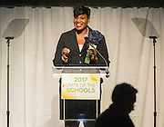 Houston ISD Trustee Wanda Adams comments during the State of the Schools luncheon at the Hilton of the Americas, February 15, 2017.