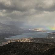 Nature puts on a wee show across Blackwater reservoir, Highlands, Scotland.