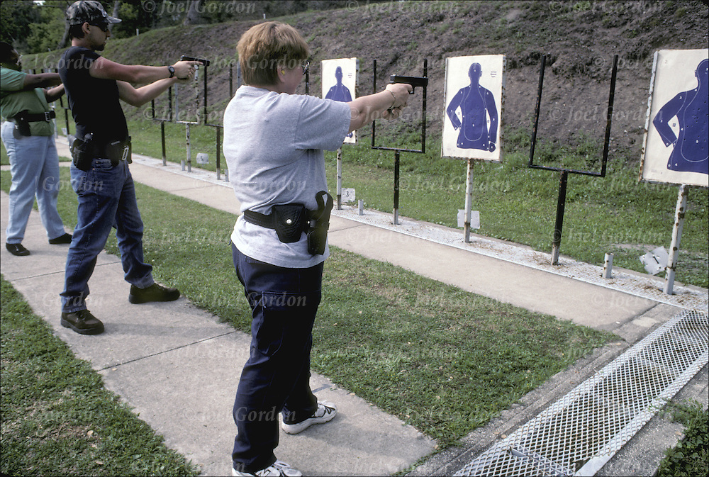 Correction Officers in-service fire arms training at gun range, Putnam County Sheriff's Office FL.