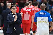 Max Giannoni, EA7 Emporio Armani Milano vs Germani Basket Brescia LBA serie A 4^ giornata di ritorno stagione 2016/2017 Mediolanum Forum Assago, Milano 12/02/2017