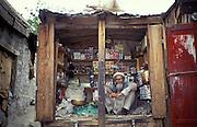 Man sitting in his local Mini shop in Skardu, Baltistan, Eastern Pakistan, Asia