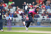 Northants Steelbacks  Ben Sanderson during the Royal London 1 Day Cup match between Lancashire County Cricket Club and Northamptonshire County Cricket Club at the Emirates, Old Trafford, Manchester, United Kingdom on 24 April 2019.
