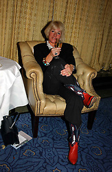 "CAROL THATCHER at a party to celebrate the publication of Bruce Oldfield's autobiography ""Rootless"" held in aid of Crimestoppers at Claridge's, Brook Street, London W1 on 22nd September 2004.<br />