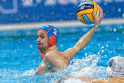 Kjeld Veenhuis #2 of Netherlands during Netherlands vs Malta on LEN European Aquatics Waterpolo January 21, 2020 in Duna Arena in Budapest, Hungary