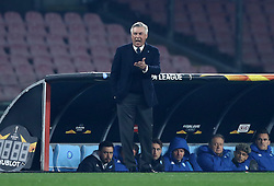 February 21, 2019 - Rome, Italy - SSC Napoli v FC Zurich - UEFA Europa League Round of 32.Napoli trainer Carlo Ancellotti at San Paolo Stadium in Naples, Italy on February 21, 2019. (Credit Image: © Matteo Ciambelli/NurPhoto via ZUMA Press)