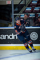 KELOWNA, CANADA - DECEMBER 27: Keltie Jeri-Leon #38 of the Kamloops Blazers warms up with the puck against the Kelowna Rockets on December 27, 2017 at Prospera Place in Kelowna, British Columbia, Canada.  (Photo by Marissa Baecker/Shoot the Breeze)  *** Local Caption ***