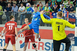 Potocnik Gregor of Slovenia during handball match between National teams of Slovenia and Czech Republic on Day 7 in Main Round of Men's EHF EURO 2018, on January 24, 2018 in Arena Varazdin, Varazdin, Croatia. Photo by Mario Horvat / Sportida