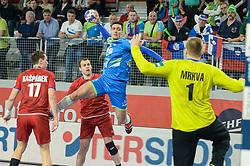 Potocnik Gregor of Slovenia during handball match between National teams of Slovenia and Czech Republic on Day 7 in Main Round of Men's EHF EURO 2018, on January 24, 2018 in Arena Varazdin, Varazdin, Croatia. Photo by Mario Horvat / Sportida