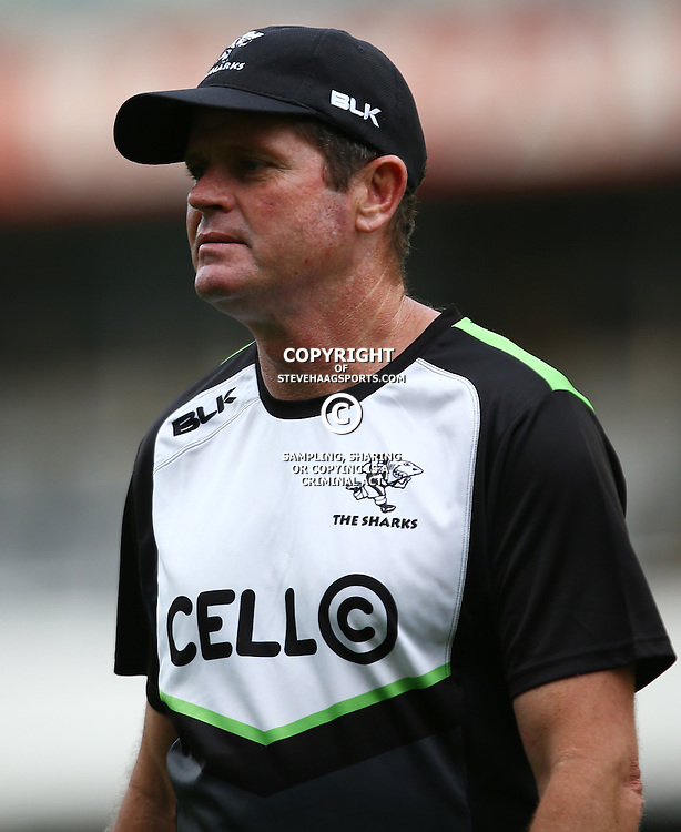 DURBAN, SOUTH AFRICA, 6 September, 2016 - Sean Everitt (Assistant Coach) of the Cell C Sharks during The Cell C Sharks training session at Growthpoint Kings Park in Durban, South Africa. (Photo by Steve Haag)<br /> <br /> images for social media must have consent from Steve Haag
