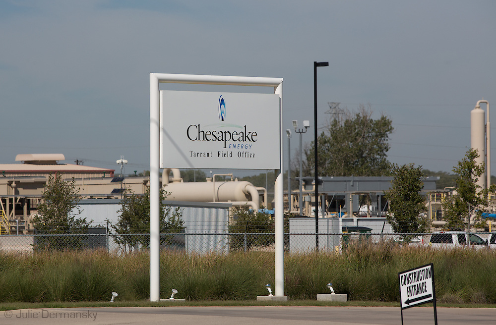 October 8th, 2013, Chesapeake Energy's headquarters in Forth Worth, Texas. Chesapeake  is one of the country's most productive fracking companies. The hydraulic fracturing industry is controversial as the long and short term effects of horizontal drilling are unknown.
