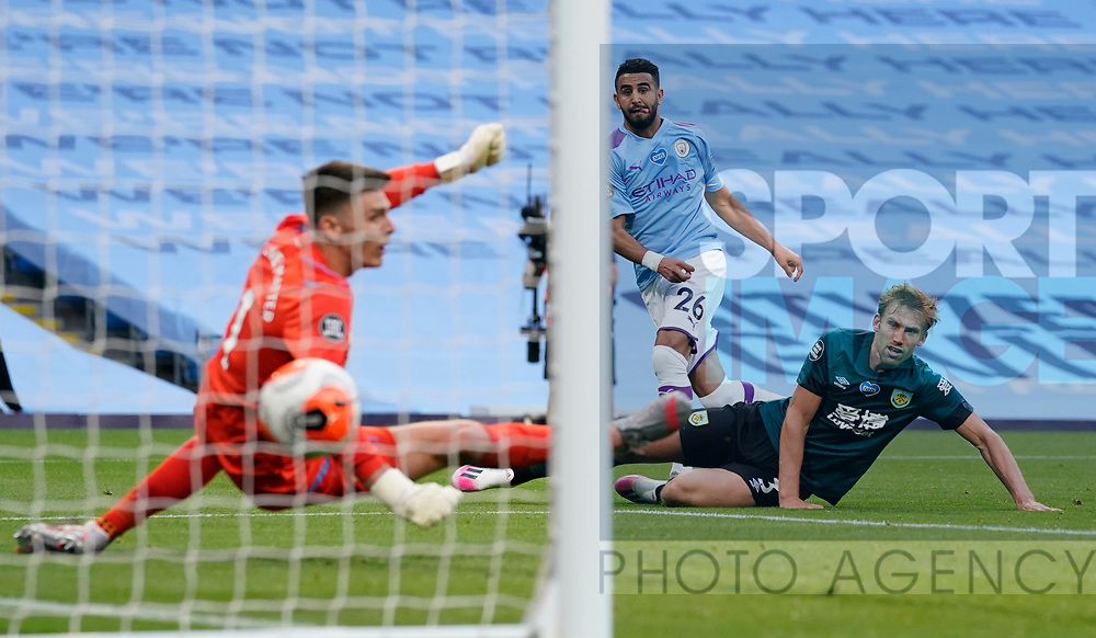 Riyad Marhez of Manchester City scores their second goalduring the Premier League match at the Etihad Stadium, Manchester. Picture date: 22nd February 2020. Picture credit should read: Andrew Yates/Sportimage