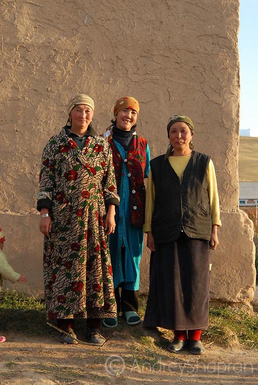 A portrait of Kyrgyz women