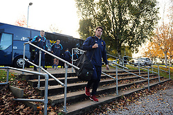 Wynand Olivier and the rest of the Worcester Warriors team arrive at Allianz Park - Mandatory byline: Patrick Khachfe/JMP - 07966 386802 - 11/11/2018 - RUGBY UNION - Allianz Park - London, England - Saracens v Worcester Warriors - Premiership Rugby Cup