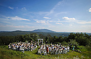 Novelist and writer Joyce Maynard and Jim Barringer's wedding in Harrisville, N.H., Saturday, July 6, 2013.  (Cheryl Senter for the New York Times)