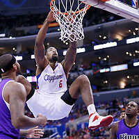 25 October 2013: Los Angeles Clippers center DeAndre Jordan (6) misses a dunk during the Sacramento Kings 110-100 victory over the Los Angeles Clippers at the Staples Center, Los Angeles, California, USA.