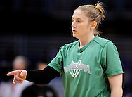 Sep 25, 2011; Phoenix, AZ, USA; Minnesota Lynx guard Lindsay Whalen (13) warms up prior to the game against the Phoenix Mercury during the first half at the US Airways Center. Mandatory Credit: Jennifer Stewart-US PRESSWIRE