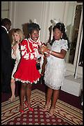 FARIDAH FOLAWIYO; TITO OVIA;, Florence Heoluwa 'Cuppy' Otedola Marie Antoinette Graduation party. Mandarin Oriental, Knightsbridge25th of July 2014.