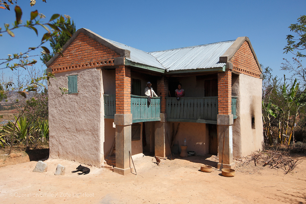 Home of Baby ANDRIANIRINA Alpha kevin born with a BCL. Mother RANDRIAPARANY Lovanandrasana Josiane, 21years old,  walks 3 hours from her house to the missionary in Antsirabe where she stays until they can afford surgery. Father RANDRIANANDRASANA Flavien Olivier, 31 years old works at a cyclopousse driver in Antsaribe. Antsirabe Clinic Project sponsored by the Swedish Postal Code lottery. Madagascar. September 2015.<br /> (Operation Smile Photographer &ndash; Zute Lightfoot)