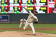 Samuel Deduno #21 of the Minnesota Twins pitches against the Milwaukee Brewers on May 29, 2013 at Target Field in Minneapolis, Minnesota.  The Twins defeated the Brewers 4 to 1.  Photo: Ben Krause