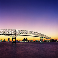 The Hart Bridge in downtown Jacksonville, Florida.
