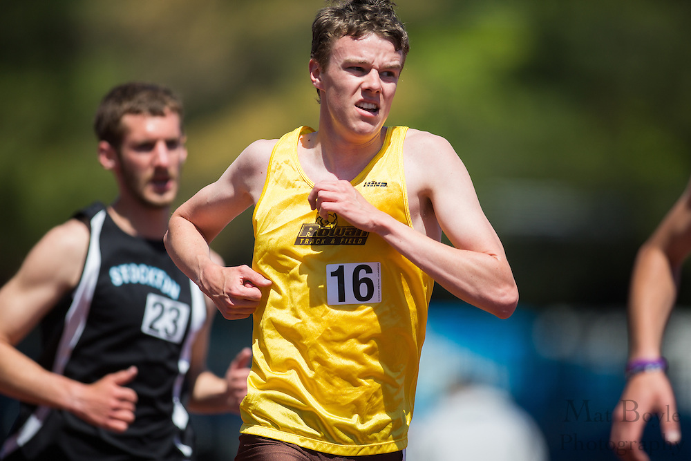 Rowan University's Timothy Reardon competes in the men's 5000 meter at the NJAC Track and Field Championships at Richard Wacker Stadium on the campus of  Rowan University  in Glassboro, NJ on Sunday May 5, 2013. (photo / Mat Boyle)