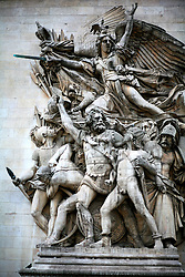 FRANCE PARIS 27JUL07 - Giant high relief sculpture, the Marseilleise by Francois Rude at the Arc De Triomphe.. . jre/Photo by Jiri Rezac. . © Jiri Rezac 2007. . Contact: +44 (0) 7050 110 417. Mobile:  +44 (0) 7801 337 683. Office:  +44 (0) 20 8968 9635. . Email:   jiri@jirirezac.com. Web:    www.jirirezac.com. . © All images Jiri Rezac 2007 - All rights reserved.