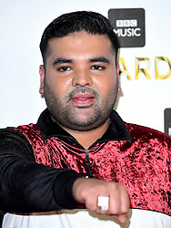 Naughty Boy attending the BBC Music Awards at the Royal Victoria Dock, London. PRESS ASSOCIATION Photo. Picture date: Monday 12th December, 2016. See PA Story SHOWBIZ Music. Photo credit should read: Ian West/PA Wire