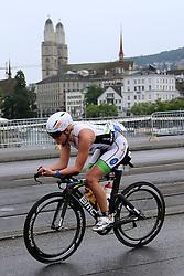 27.07.2014, Zürich, SUI, Ironman Zuerich 2014, im Bild Celine Schaerer (SUI) // during the Zurich 2014 Ironman, Switzerland on 2014/07/27. EXPA Pictures © 2014, PhotoCredit: EXPA/ Freshfocus/ Claude Diderich<br /> <br /> *****ATTENTION - for AUT, SLO, CRO, SRB, BIH, MAZ only*****