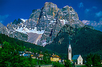 Italian alpine village in the Dolomites, Selva di Cadore, Northern Italy